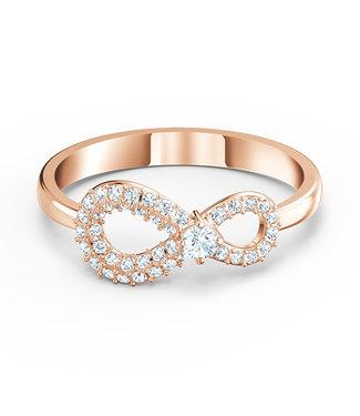 Swarovski Infinity ring rose