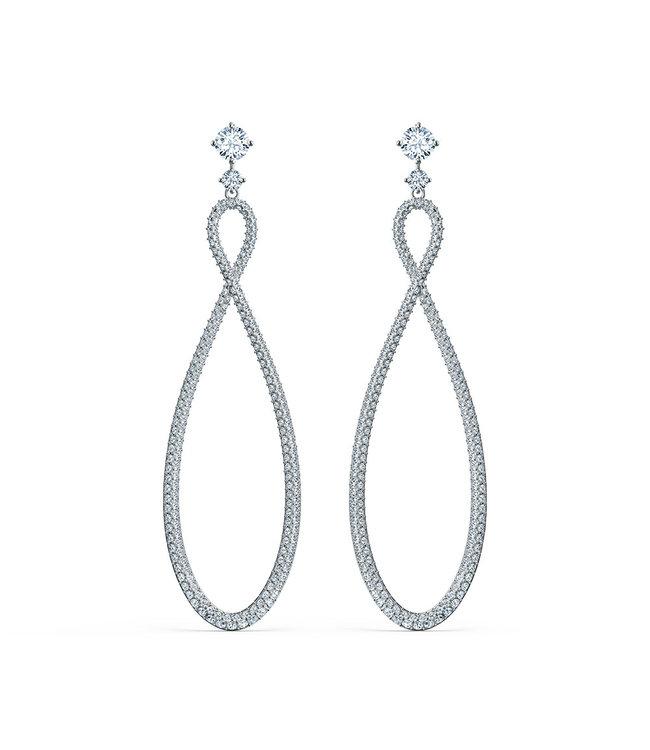 Swarovski Swa Infinity pierced earrings hoop 5518878
