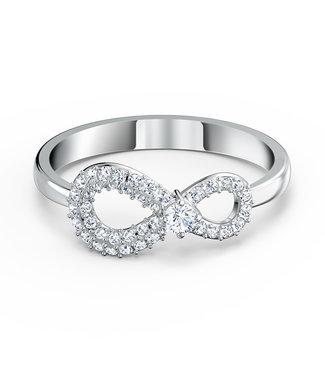 Swarovski Infinity ring silver