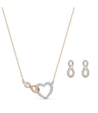 Swarovski Swa Infinity set Heart and Infinity 5521040