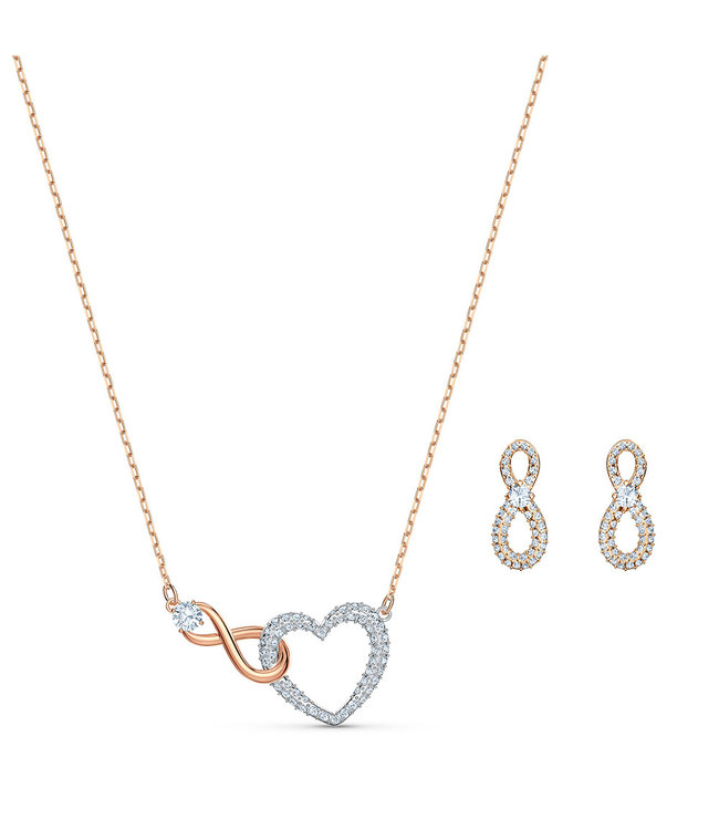 Swarovski Swa Infinity set Heart and Infinity 5521040