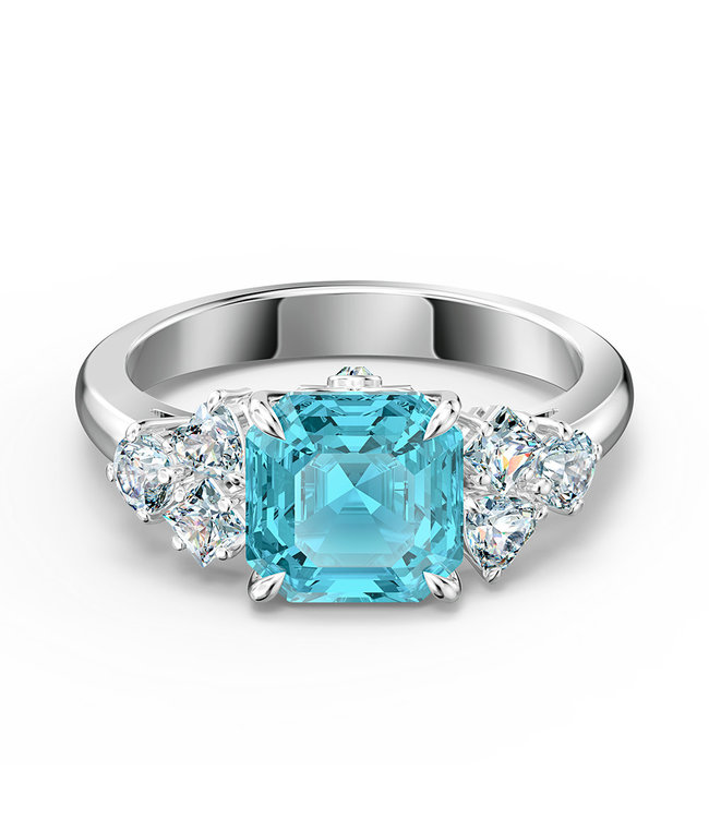 Swarovski Sparkling Aqua ring