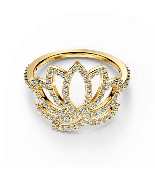 Swarovski Swa Symbol Lotus ring gold
