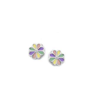 Orage Kids & Teenz oorbellen Bloem multicolor pastel O/3477