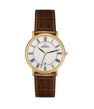 Michel Herbelin Ronde Date dames horloge 12443/P08GO