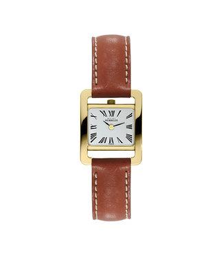 Michel Herbelin Rectangle dames horloge 17037/P01GO