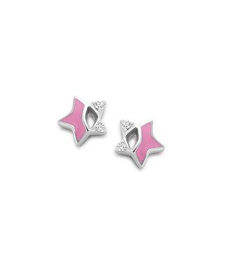 Orage Kids oorbellen Ster roze O/4861