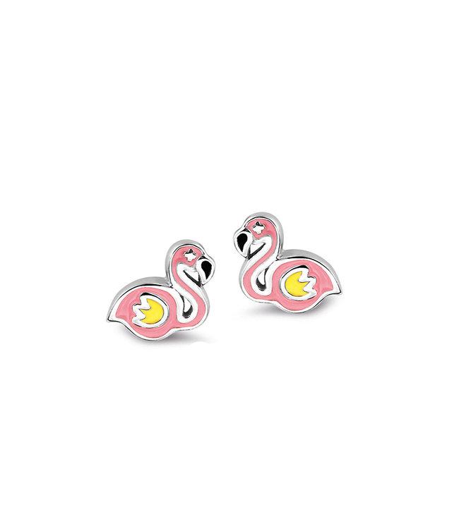 Orage Kids oorbellen Flamingo roze O/3429