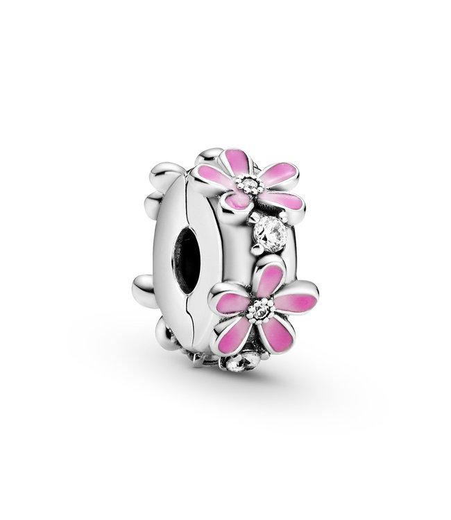 Pandora Pink Daisy Flower Fixed clips 798809C01