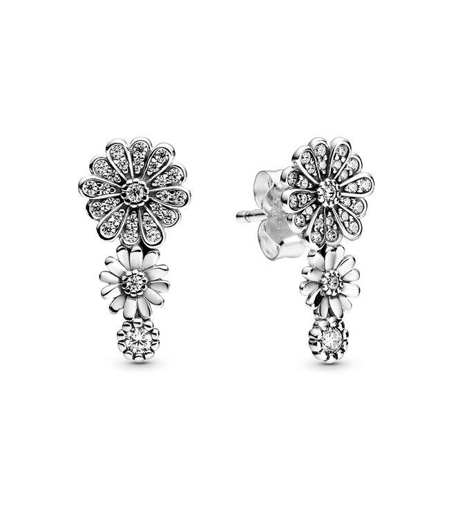 Pandora Sparkling Daisy Flower Trio stud earrings 298876C01