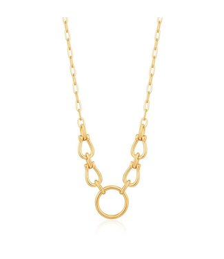 Ania Haie Chain Reaction Horseshoe Link necklace gold N021-04G