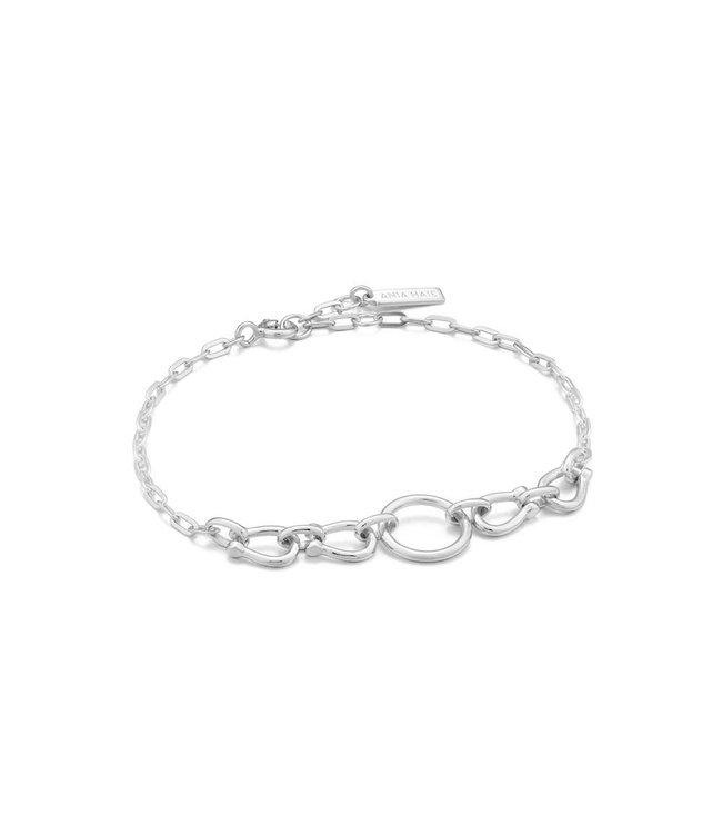 Ania Haie Chain Reaction Horseshoe Link bracelet silver B021-04H