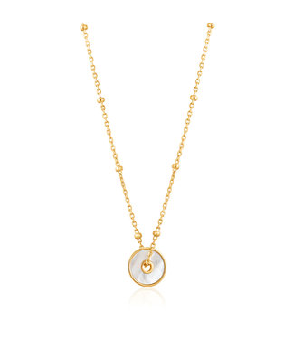 Ania Haie Hidden Gem - Mother of Pearl disc necklace N022-01G