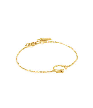 Ania Haie Luxe Minimalism - Luxe Curve bracelet gold B024-01G