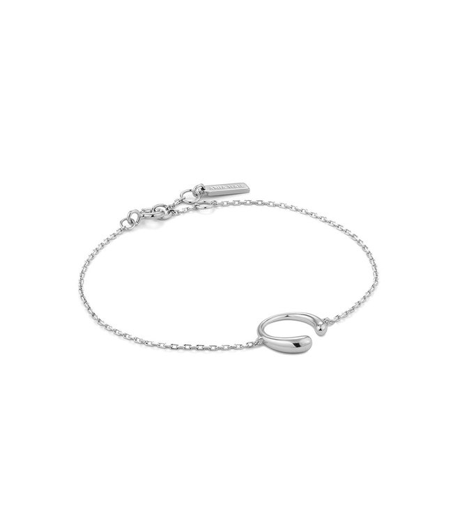 Ania Haie Luxe Minimalism - Luxe Curve bracelet silver B024-01H