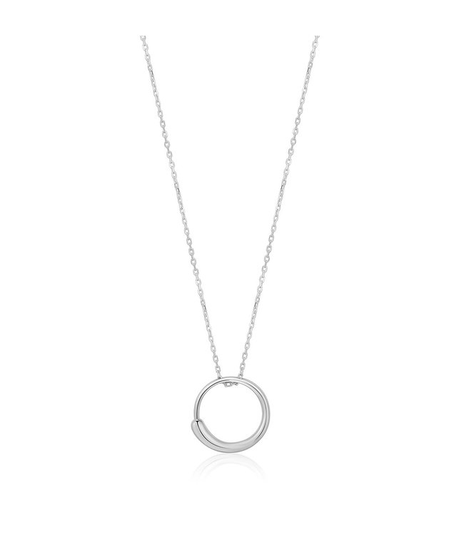 Ania Haie Luxe Minimalism - Luxe Circle necklace silver N024-01H