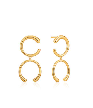 Ania Haie Luxe Minimalism - Luxe Double Curve earrings gold E024-01G