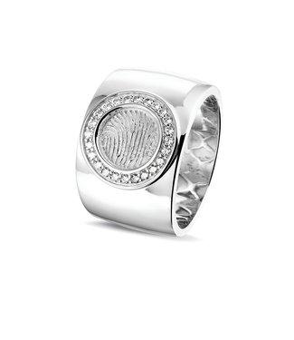 See You Gedenksieraden ring RWS 007 Silver zircons