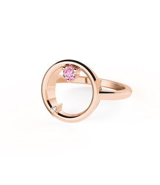 Diamanti Per Tutti ring Attraction Gravity pink M1513-2S5