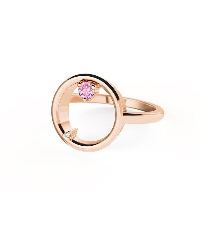 Diamanti Per Tutti ring Attraction Gravity pink M1513-2S5