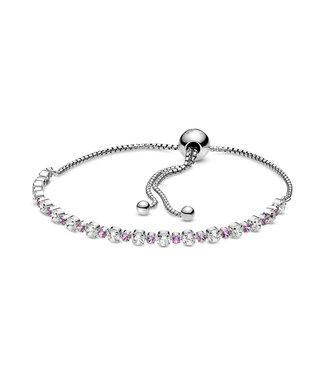Pandora Pink & Clear Sparkle sliding bracelet 598517C02