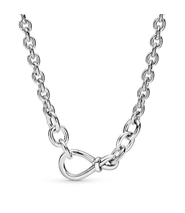 Pandora Chunky Infinity Knot chain necklace 398902C00-50