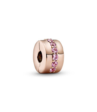 Pandora Pink Sparkling Row clips 781972C01