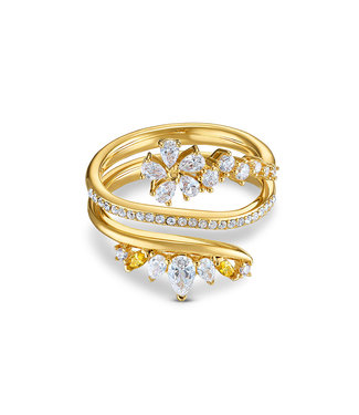 Swarovski Botanical ring Wrap gold