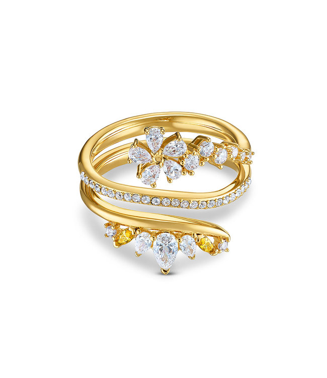 Swarovski Botanical ring Wrap gold