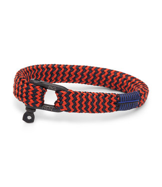 Pig & Hen Sharp Simon - Coral Red/Navy/Black