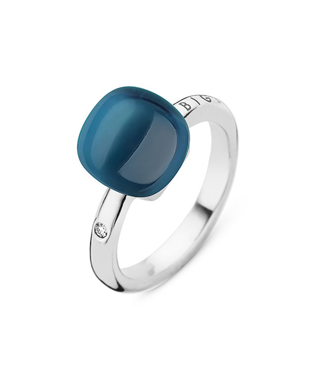 Bigli ring Mini Sweety London Blue with mother of pearl 20R88Wlobmp