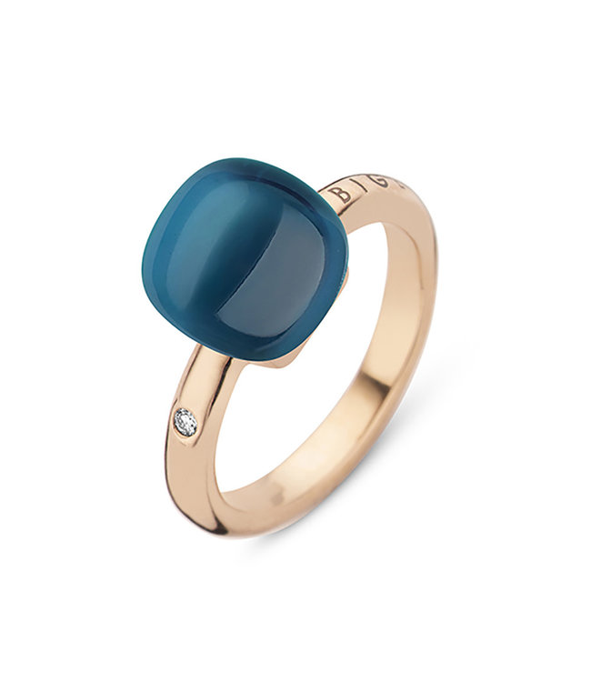 Bigli ring Mini Sweety London Blue Topaz with mother of pearl 20R88Rlobmp