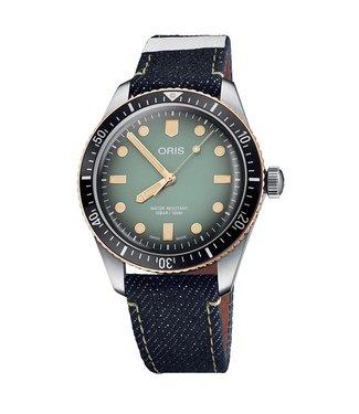 Oris Sixty-Five Momotaro Jeans Special Edition heren horloge 0173377074337-SET