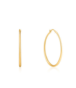 Ania Haie Luxe Minimalism - Luxe Hoop earrings gold E024-04G