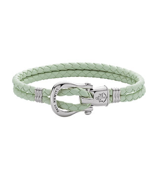 Paul Hewitt Phinity Shackle leather bracelet Mint PH-FSH-L-S-M