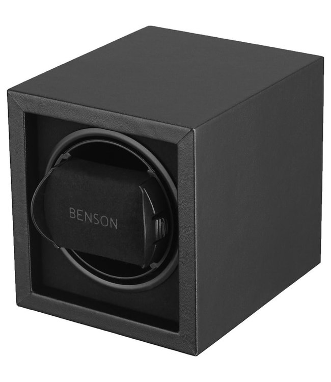 Benson Watchwinders & Horlogeboxen Benson Compact 1.17 Watchwinder Black Leather