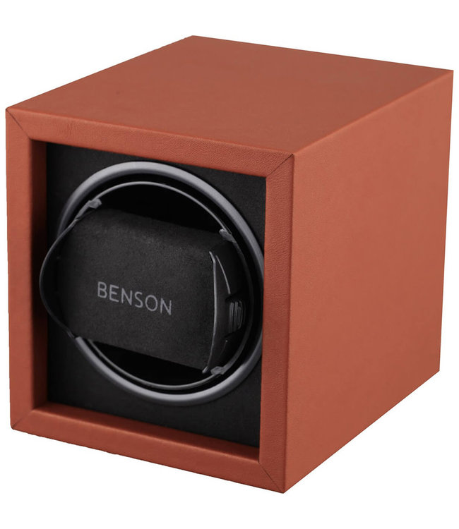Benson Watchwinders & Horlogeboxen Benson Compact 1.17 Watchwinder Light Brown Leather