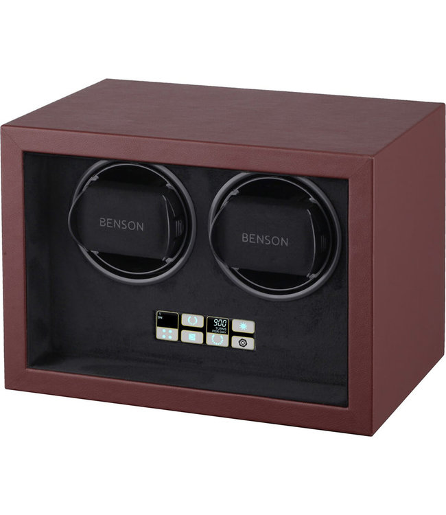 Benson Watchwinders & Horlogeboxen Benson Compact 2.18 Watchwinder Dark Brown Leather