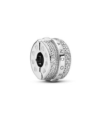Pandora Sparkling Pavé Lines & Logo Clip 799042C01