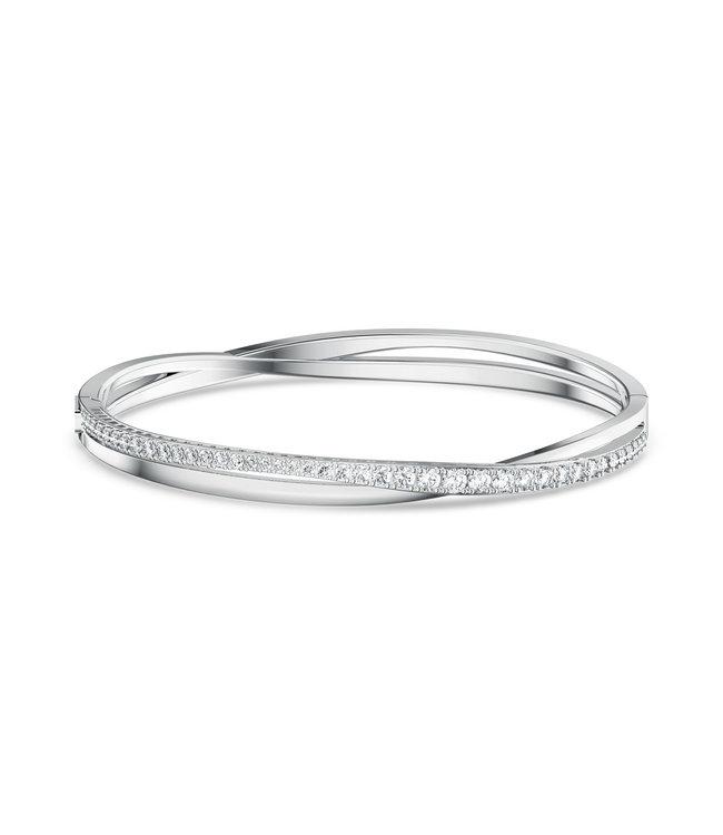Swarovski Twist bangle Rows silver