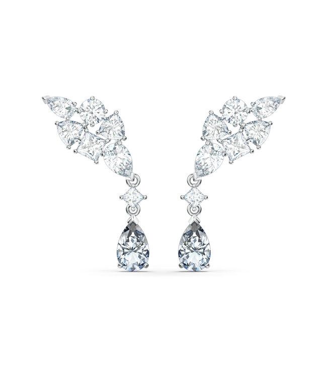 Swarovski Tennis Deluxe pierced earrings Cluster 5562086