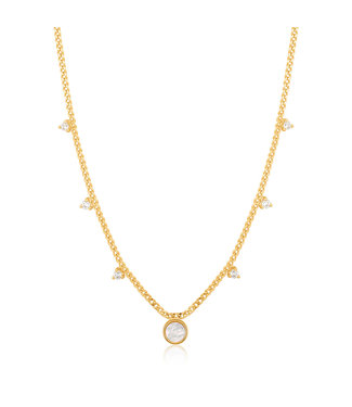 Ania Haie Hidden Gem - Mother of Pearl Drop Disc necklace N022-03G
