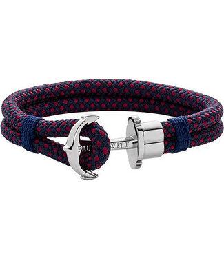 Paul Hewitt Anchor bracelet Phrep Nylon Navy blue Red