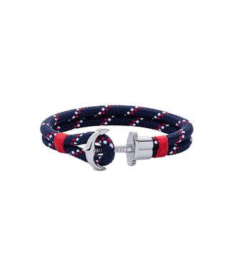 Paul Hewitt Anchor bracelet Phrep Nylon Navy Blue Red White