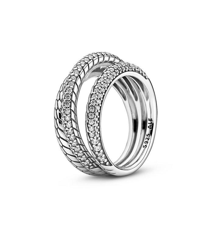 Pandora Snake Chain Pattern ring 199083C01