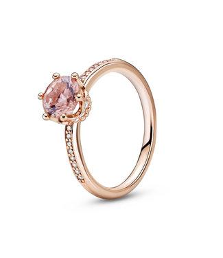 Pandora Pink Sparkling Crown stackable ring 188289C01