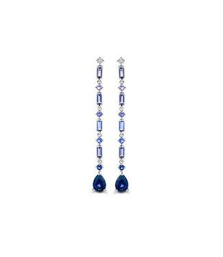 Orage oorbellen blauw O/3222