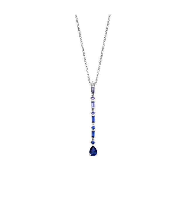 Orage ketting blauw K/3167/50