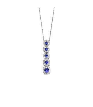 Orage ketting Blauw K/3165/45
