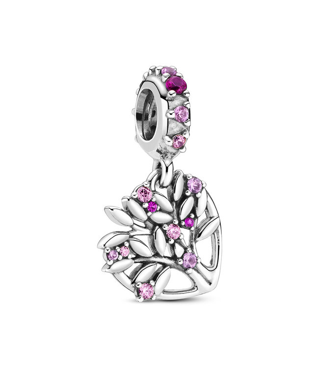 Pandora Pink Heart Family Tree dangle 799153C01